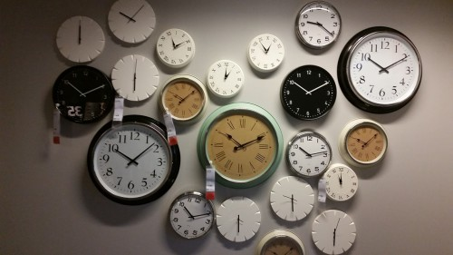 wall-clocks-534267_1280 Stop Rushing: 7 Ways To Slow Your Schedule. Photo of wall with multiple clocks.