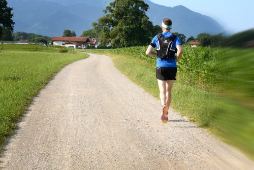 5 successes and failures: 2016. Photo of man running on gravel road