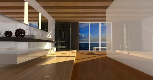 How to downsize for life: Photo of modern/minimalist room.
