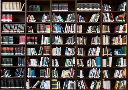 The power of daily reading toward positive change: Photo of a personal library.